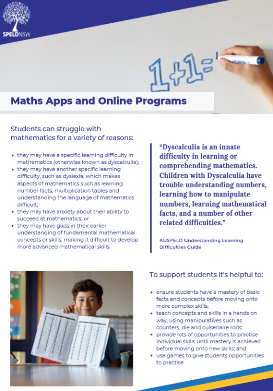 Maths Apps and Online Program