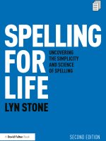 Spelling for Life by Lyn Stone (SSL)