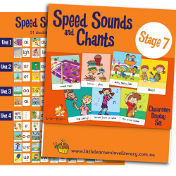 Speed Sound Cards, Stage 7, Classroom Display Size  LLSSC7P)