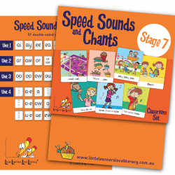 Speed Sound Cards, Stage 7, Classroom Size  LLSSC7M