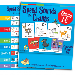 Speed Sound Cards, Stage 1-6, Classroom Display Size  LLSSC1P